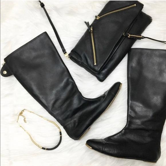 Basic Collection Riding Black Boots Zara 0Pk8nwO